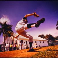 """Sudden"" Sam McDowell during Yankees Spring Training, Bradenton, Florida, 3/6/1974 (McKecknie Field)"